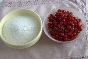 Ингредиенты для желе из красной смородины