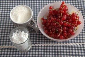 Ингредиенты для киселя из красной смородины