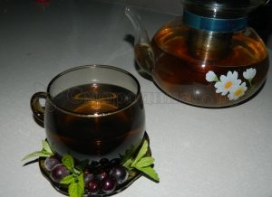 Смородиновый чай с мятой