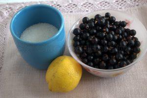 Ингредиенты для лимонада из смородины